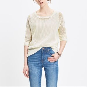 Madewell open knit pullover sweater M